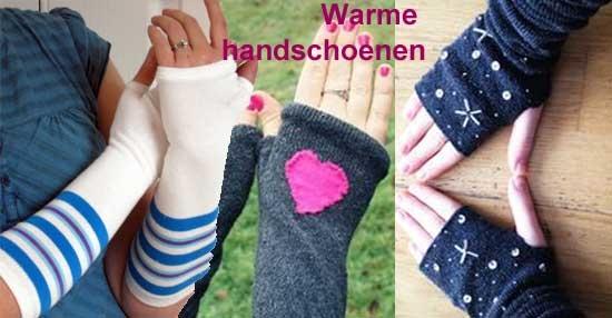 handschoenen van sokken