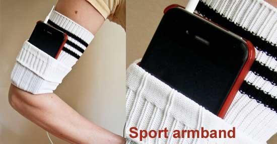 sport armband maken van sportsokken
