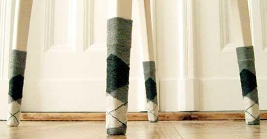 stoel sokken decoratie stoelen